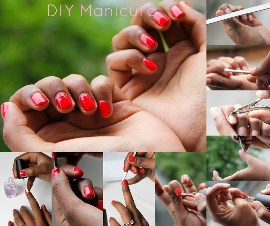 opi manicure, Opi cajun Schrimp, DIY nails, red nails