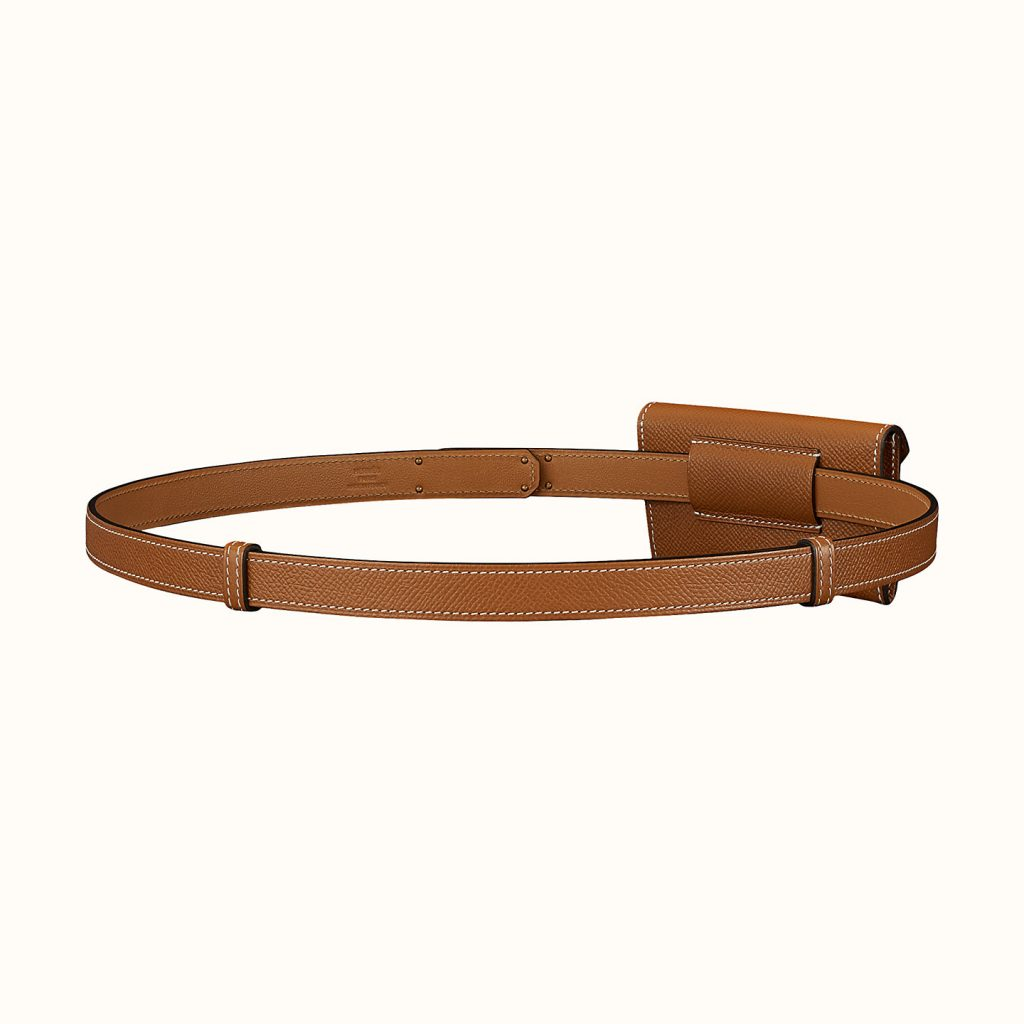 The Hermes Kelly Pocket Belt sliding system.
