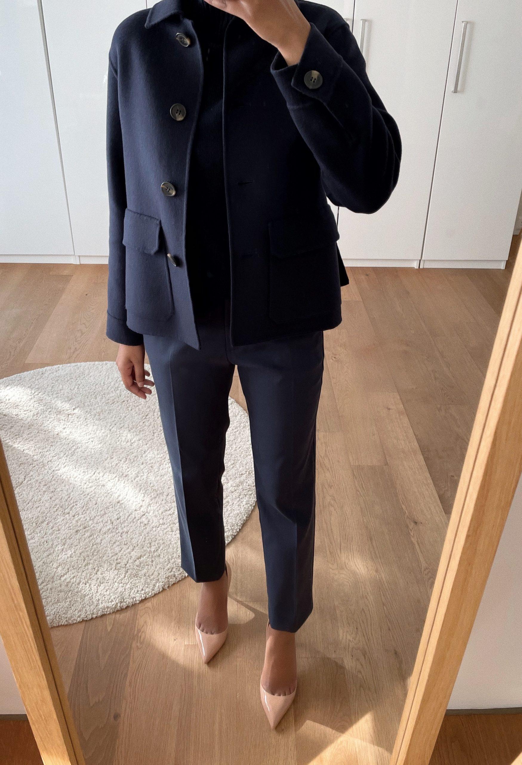 Dark neutral shades: outerwear